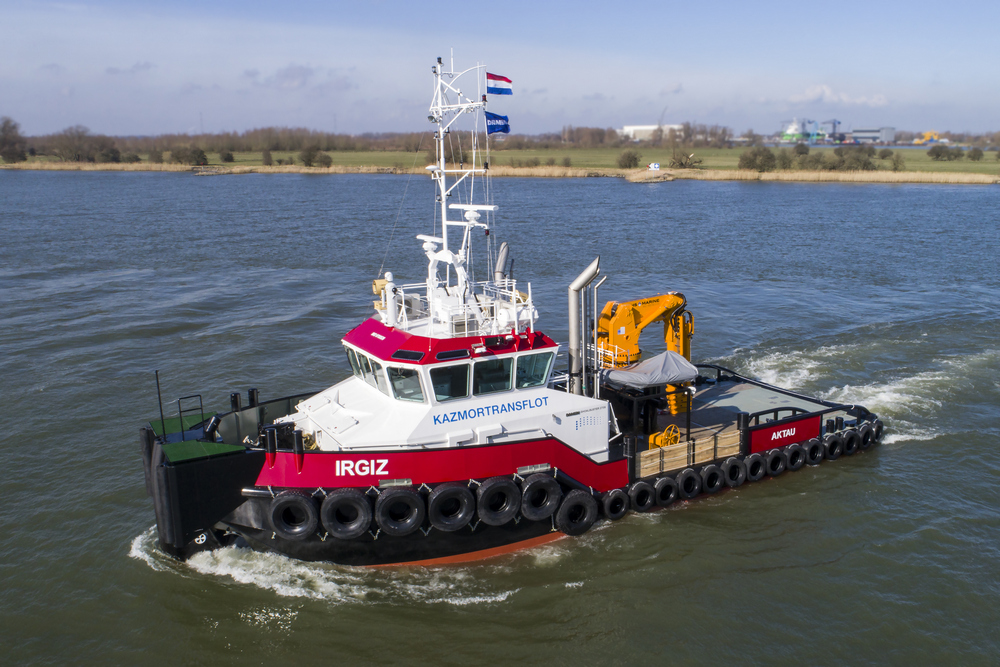 Kazmortransflot LLP takes delivery of final Damen Shoalbuster 2709 for Caspian Sea operations