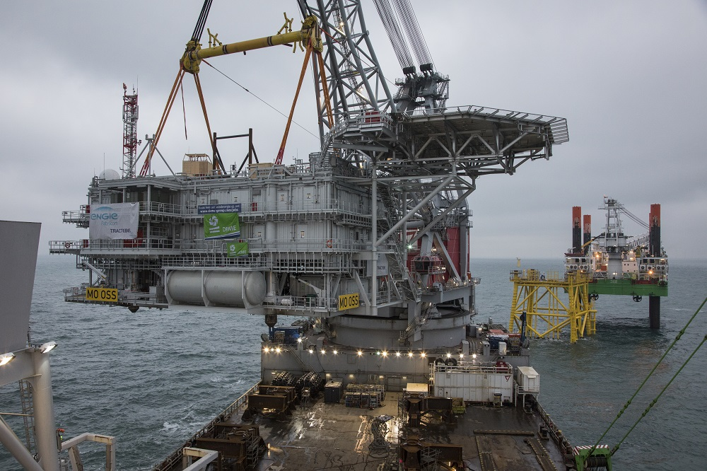 Installation of Belgian topside for offshore substation marks milestone in further construction of Merkur Offshore Wind Farm