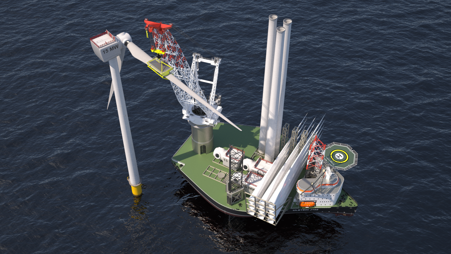 New X-JACK design for jack-up vessels to strengthen Ulstein's ambitions in offshore wind