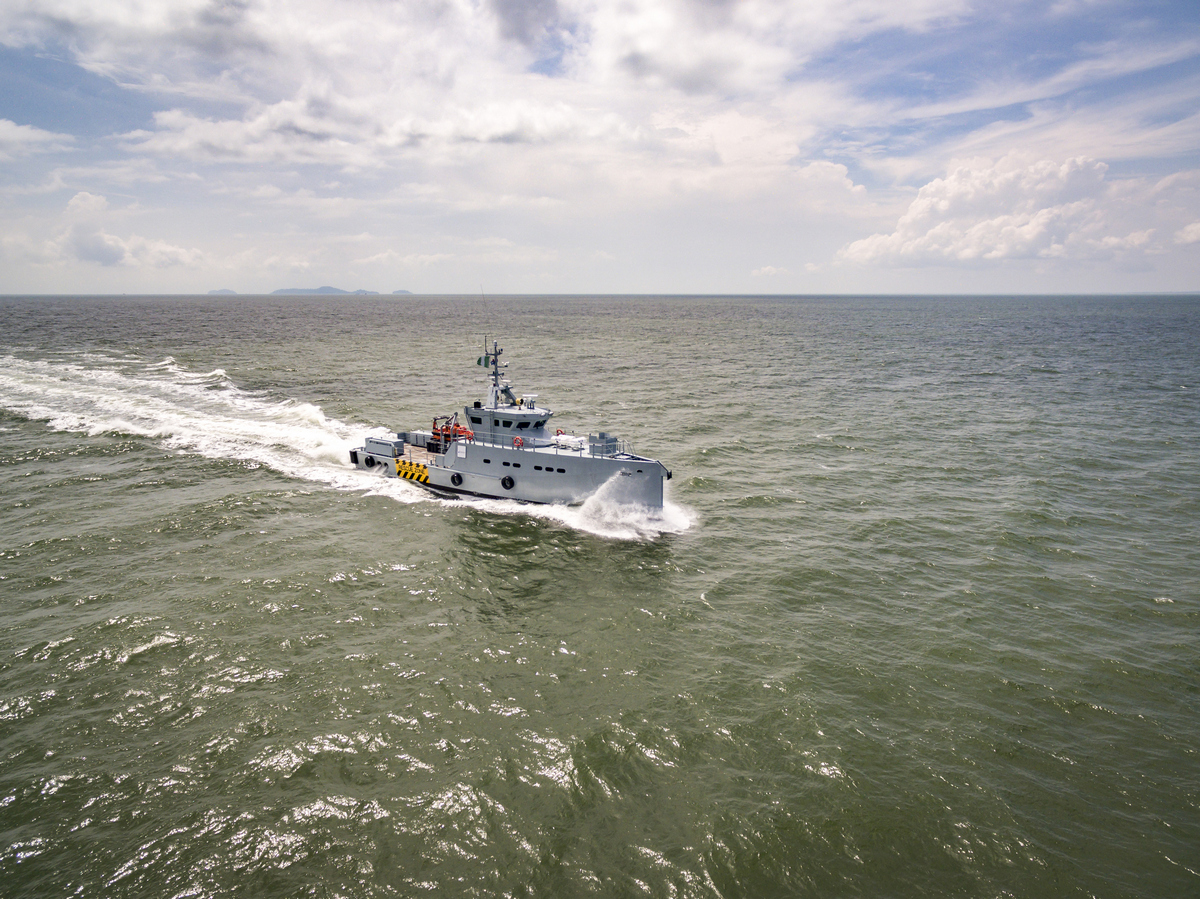 Damen Shipyards Group and Homeland Integrated Offshore Services of Lagos have signed a contract in Singapore for the delivery of two additional Damen 3307 Patrol Vessels