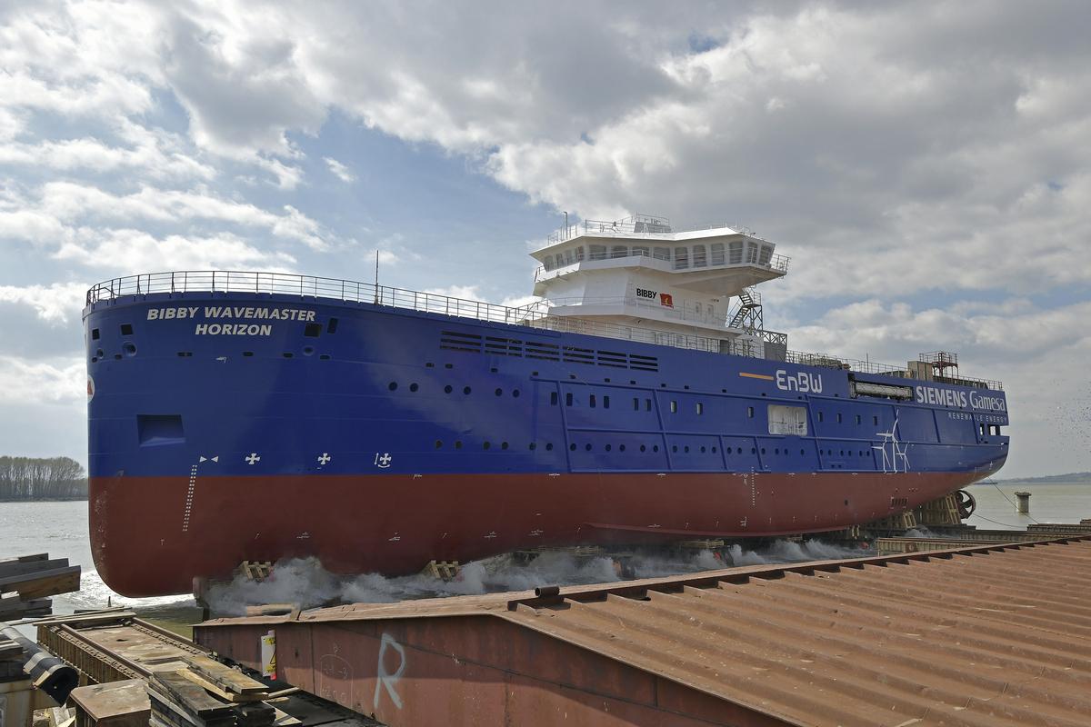 Bibby WaveMaster Horizon launched and named  at Damen Shipyards Galati