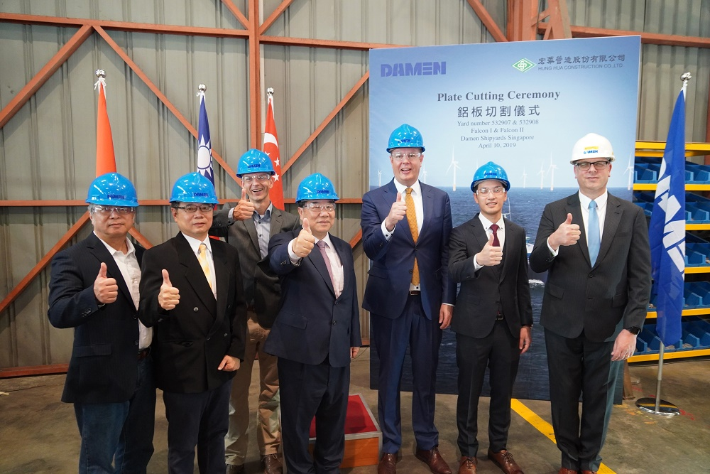 Work begins on twin Damen Fast Crew Suppliers 2710 ordered by Hung Hua Construction Co. Ltd. of Taiwan