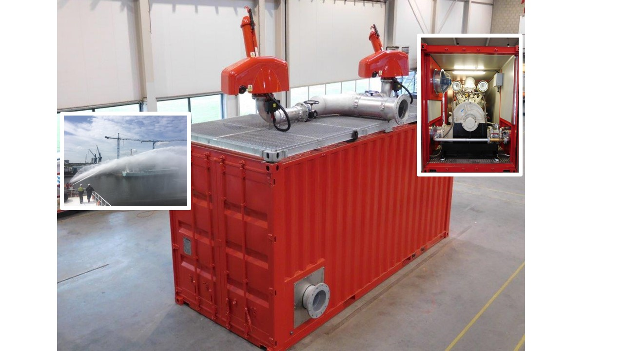 CSH Hydrodiesel delivered a containerised fire water pump to Boskalis