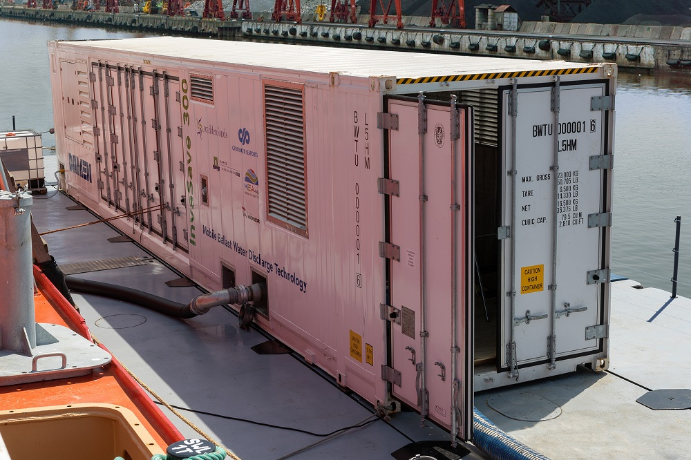 Damen's InvaSave mobile ballast water treatment system goes on tour ahead of IMO deadline