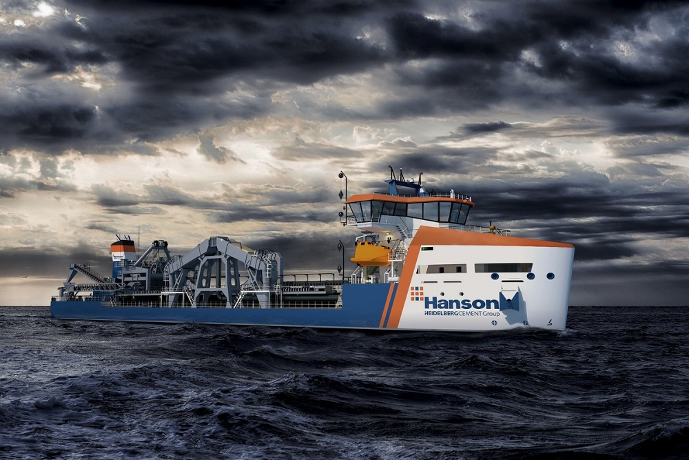 Damen and Hanson sign contract on new dredger vessel
