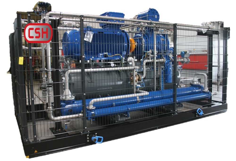 Compressor Systems Holland delivered a skid mounted biogas compressor installation