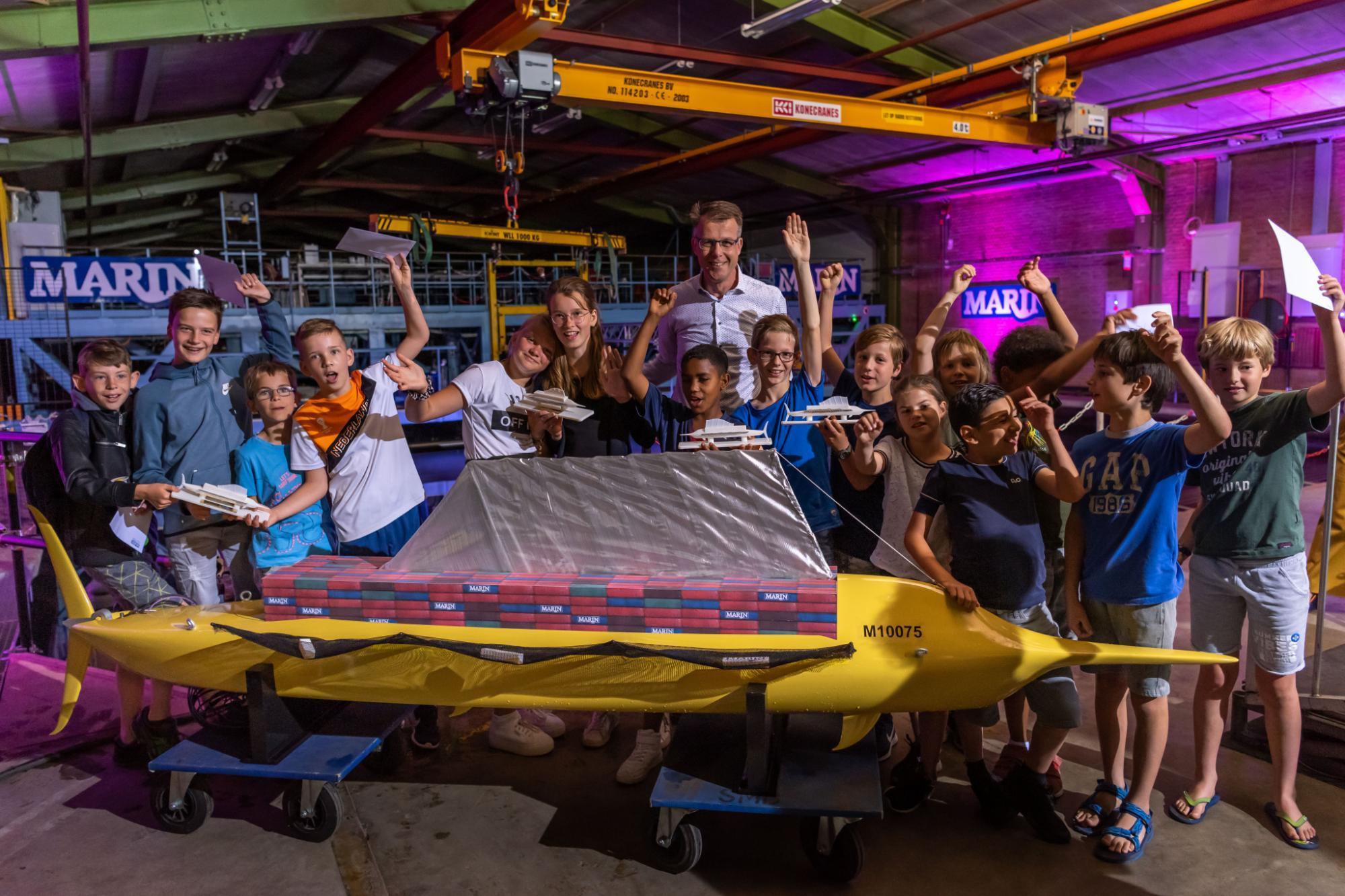MARIN test door kinderen bedacht 'schip van de toekomst'