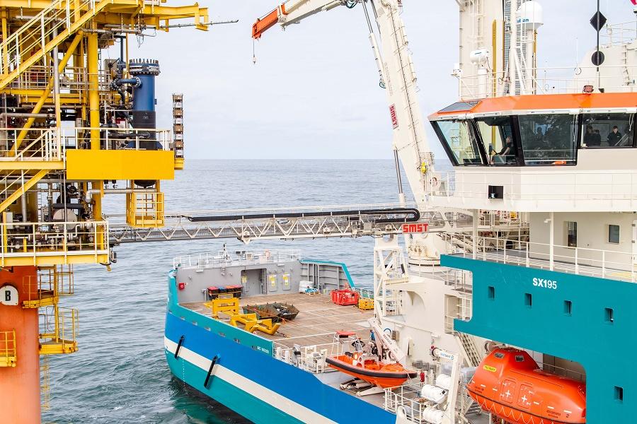 First operations Acta Centaurus with SMST equipment in Deutsche Bucht