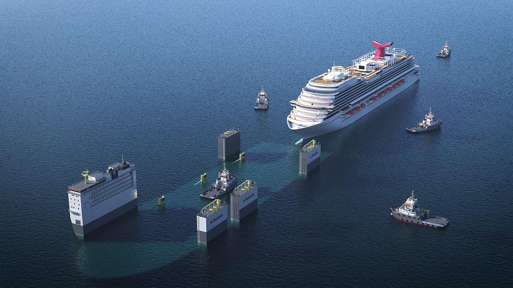 Boskalis to dry dock Carnival cruise ship on the BOKA Vanguard