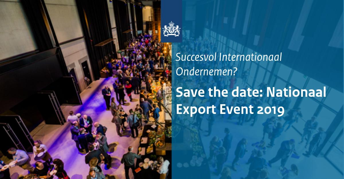 Save the date: Nationaal Export Event 2019