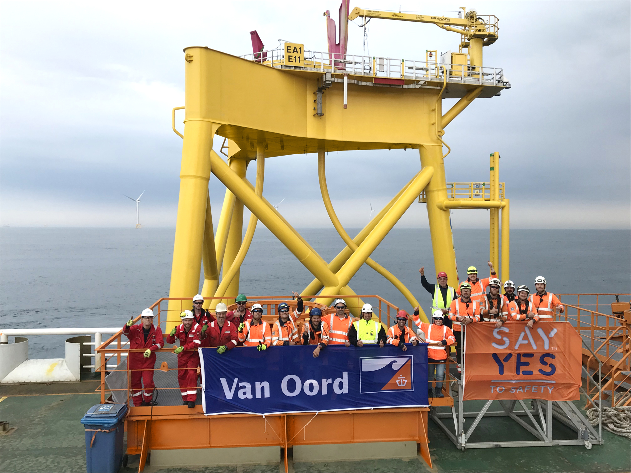 Van Oord completes foundations for offshore wind farm East Anglia ONE
