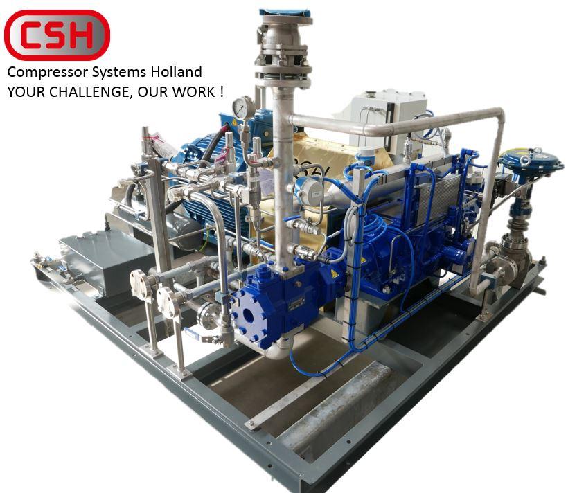 Compressor Systems Holland delivered a skid mounted biogas compressor