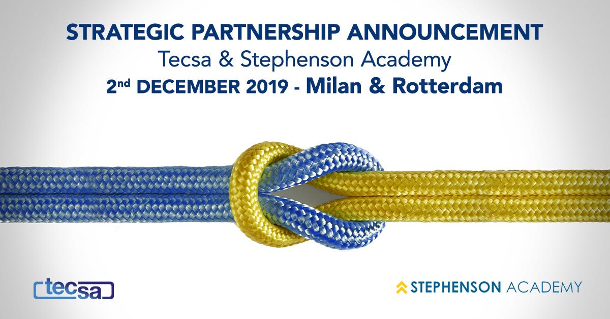 Stephenson Academy B.V. signs partnership with TECSA s.r.l.