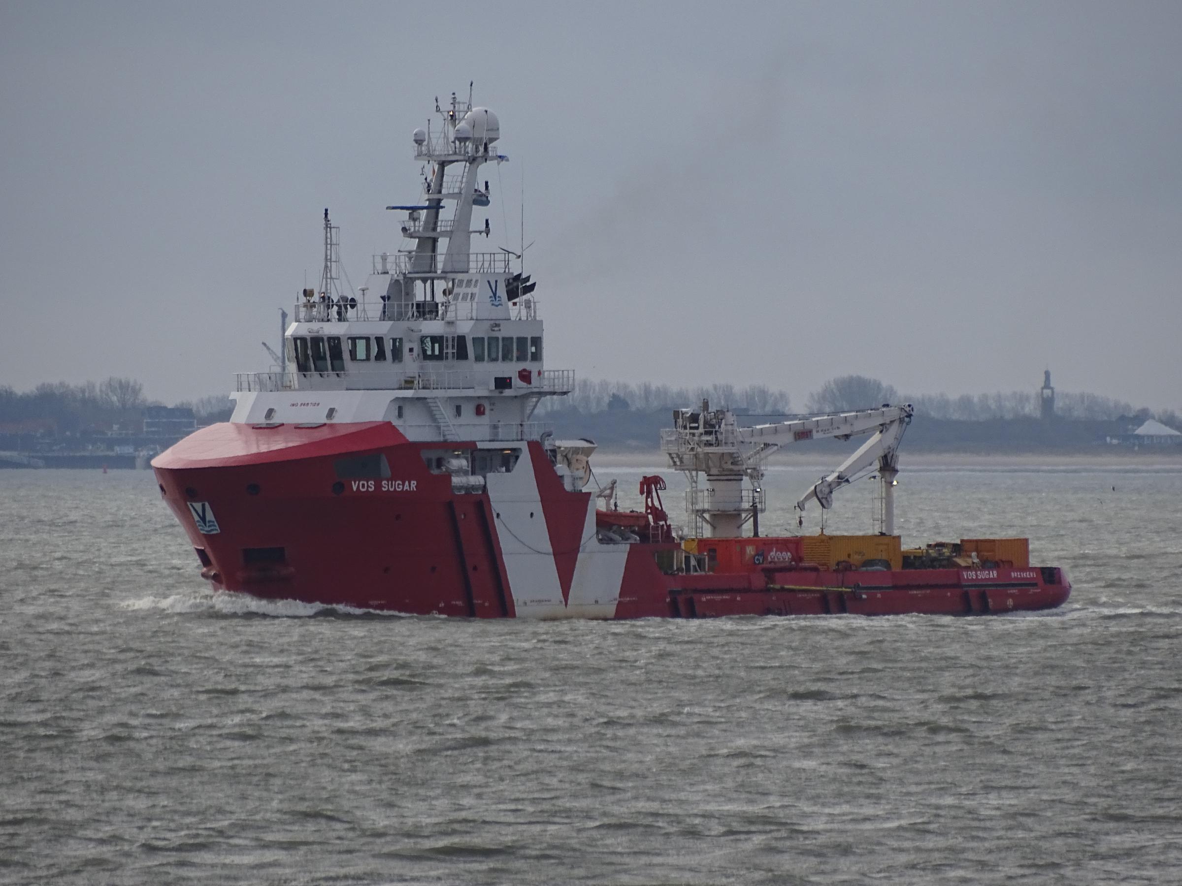 VOS Sugar at work in Offshore Wind Park Borssele