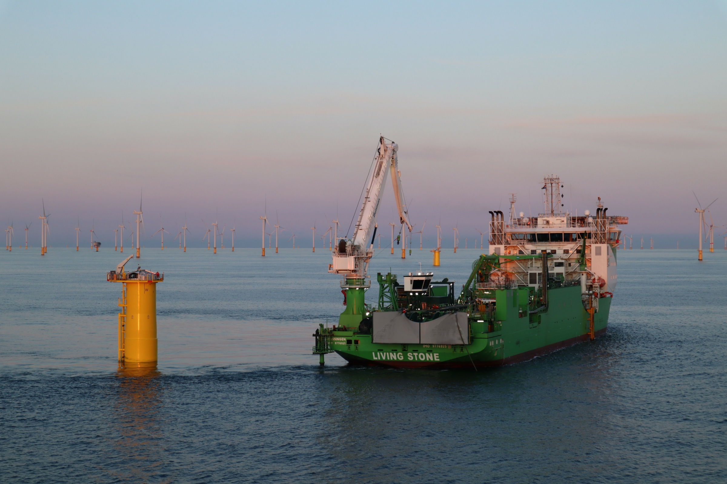 Living Stone's peak production levels ensure inter-array cable laying works at SeaMade offshore wind farm are achieved in record time