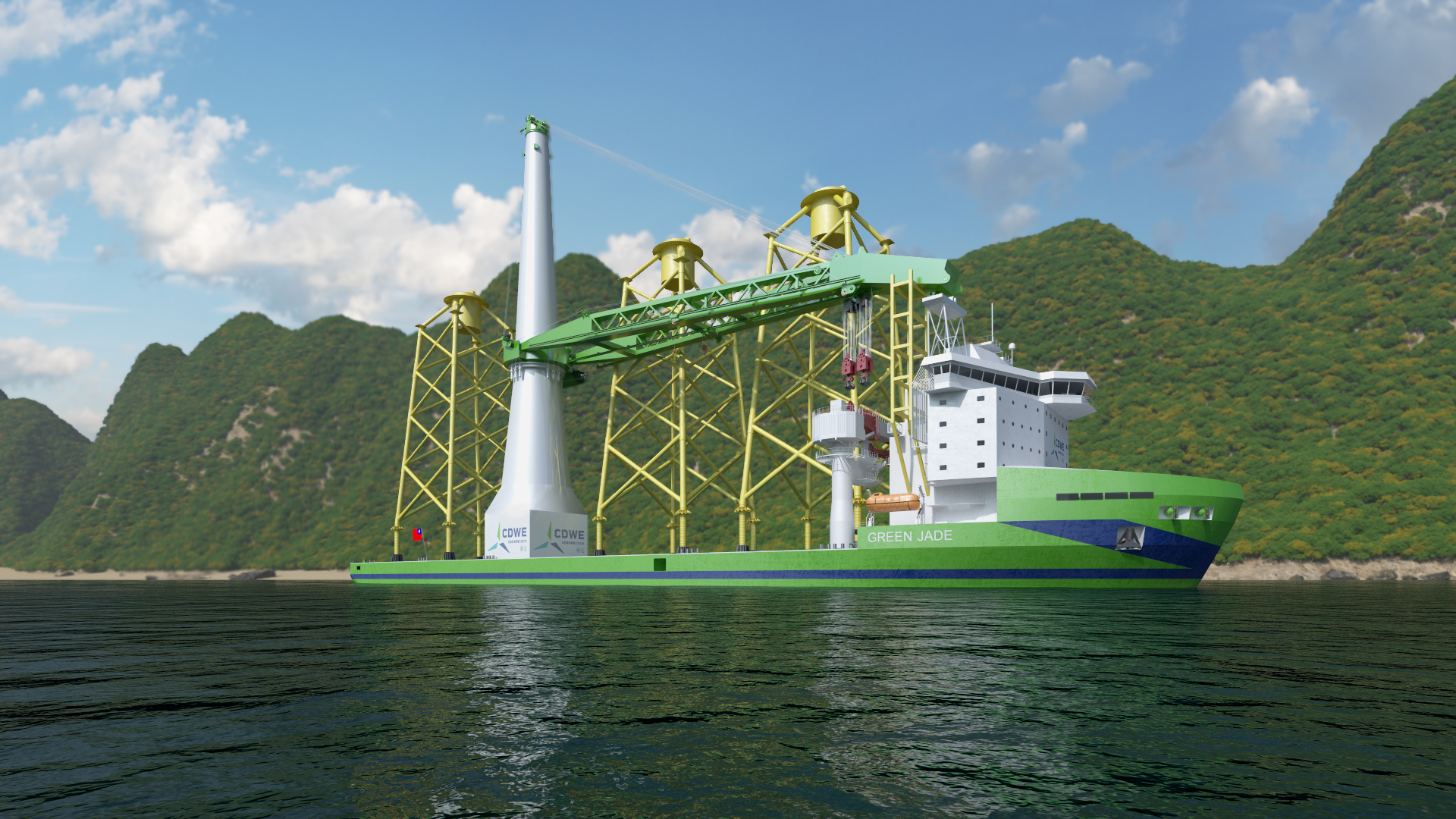 CDWE reaches Final Investment Decision and orders pioneering offshore wind installation vessel 'Green Jade'
