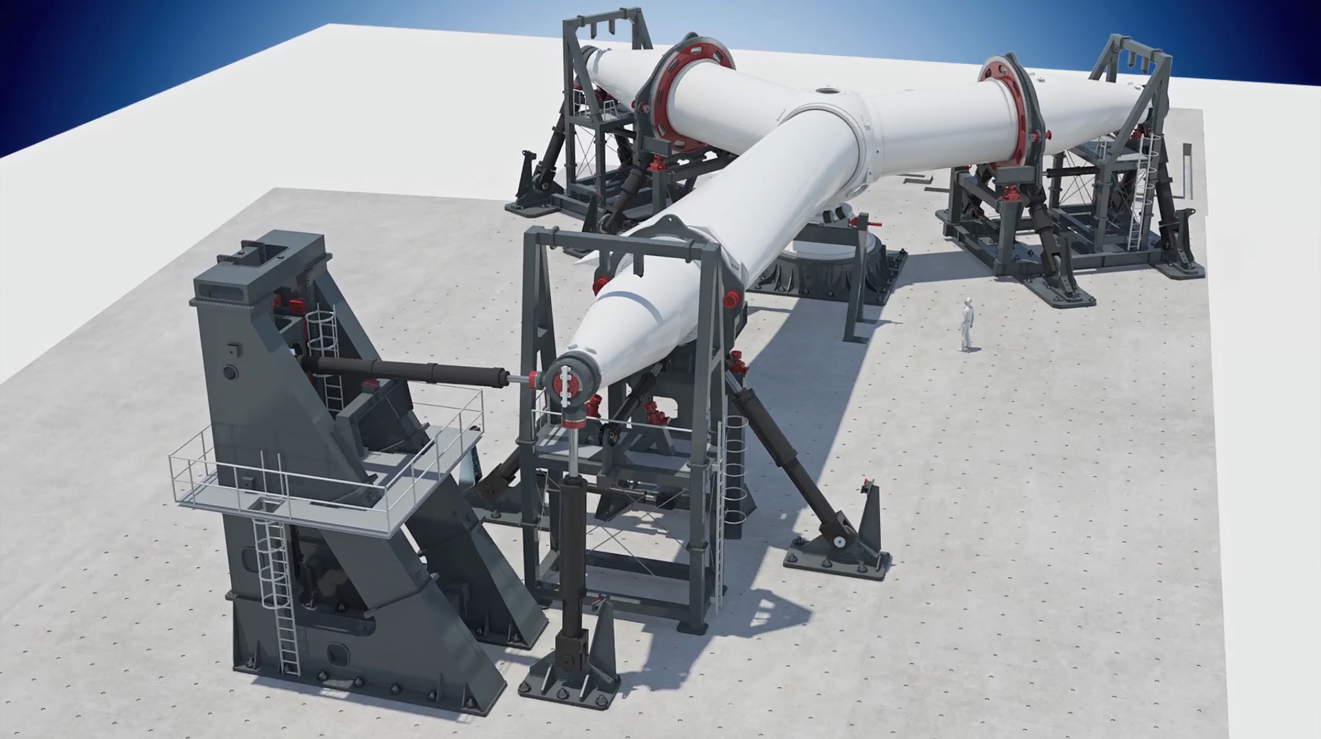 TNO supports construction largest wind turbine rotor test rig