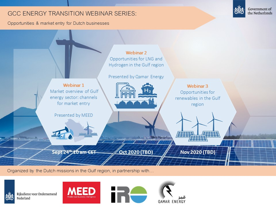 Recording of GCC Energy Transition Market webinar: Opportunities & market entry for Dutch businesses
