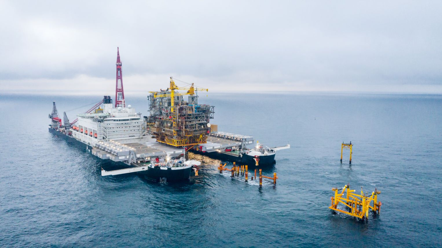 Allseas completes topsides removal scope for Total's Tyra redevelopment