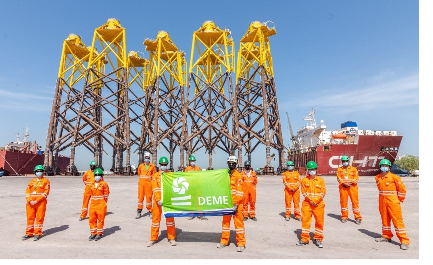 Last jackets to leave Dubai and head for the Moray East offshore wind farm