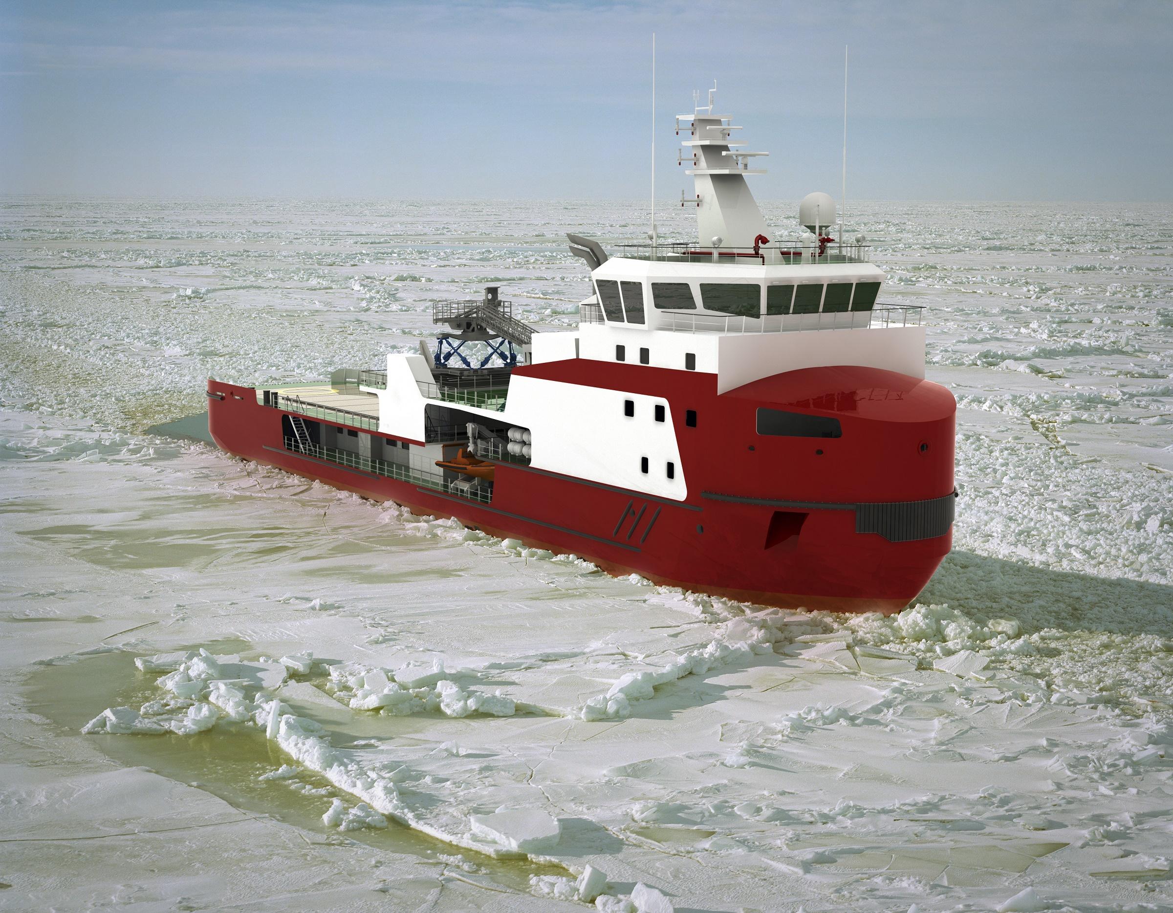 Niestern Sander lays keel on shallow draft ice breaking walk to work vessel