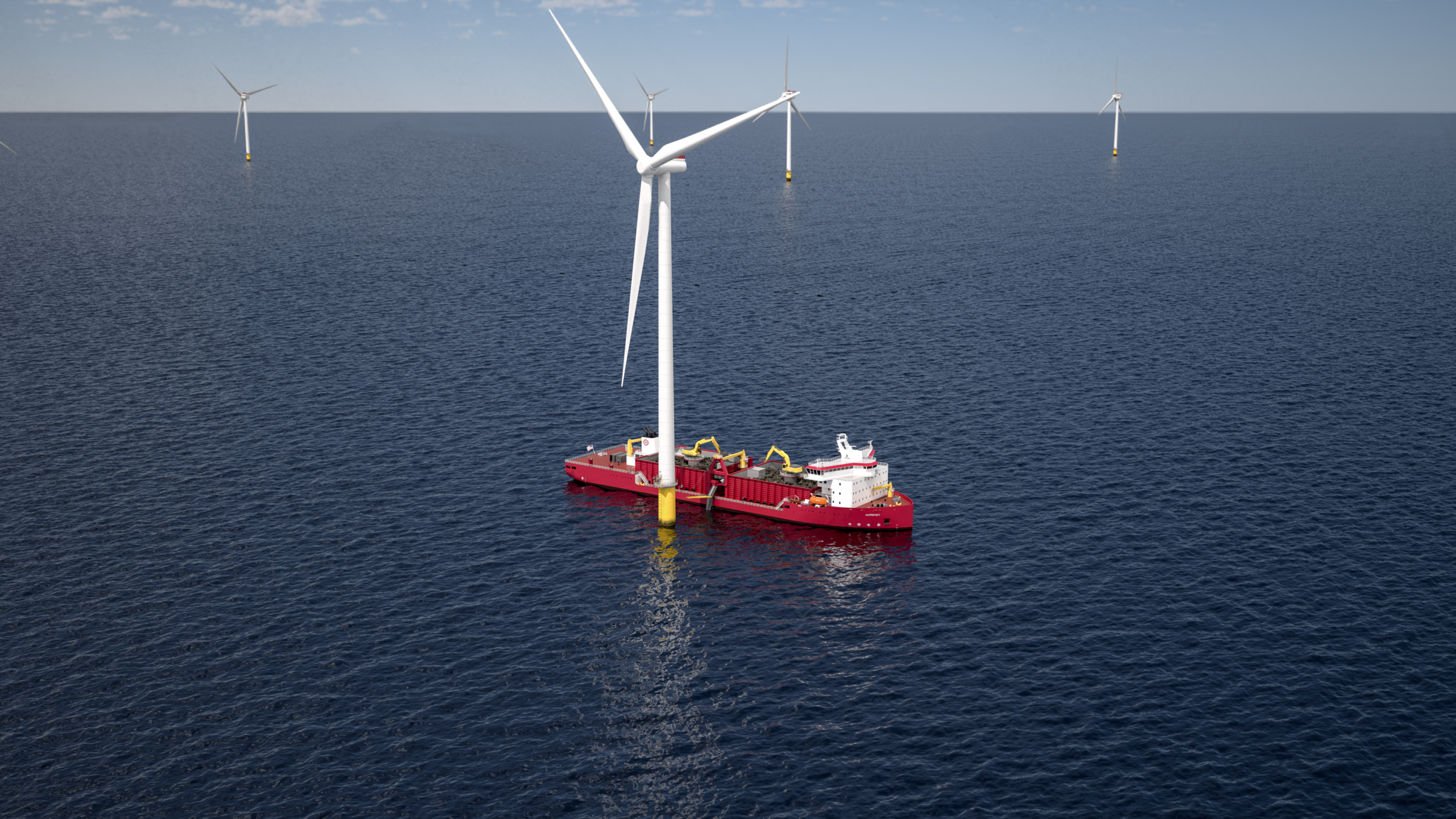 Ulstein awarded design contract for first Jones Act compliant rock installation vessel to serve US Offshore wind