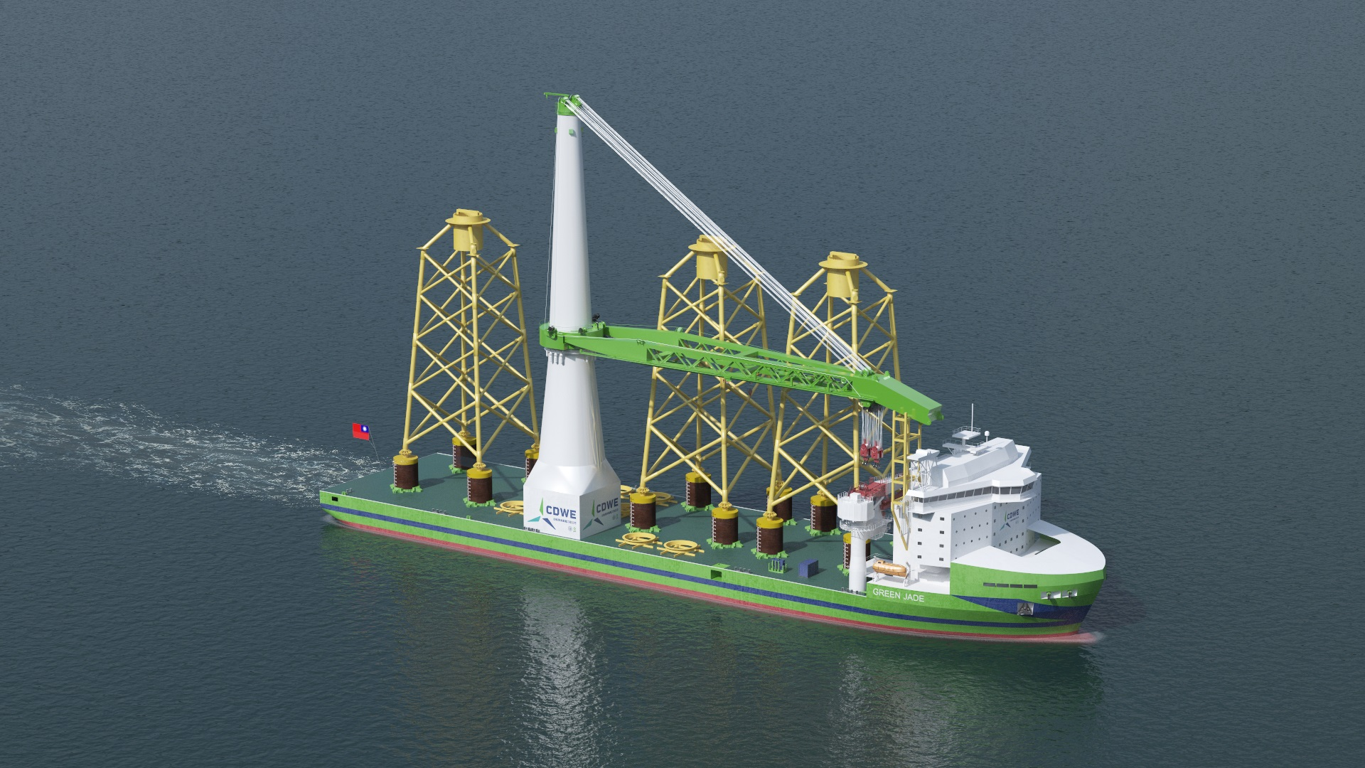 Keel laying marks an important milestone for first Taiwanese offshore installation vessel 'Green Jade'
