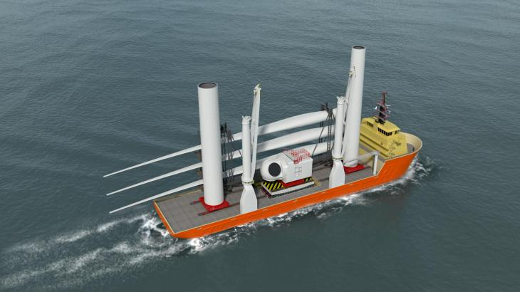 Huisman develops Jones Act compliant solution for wind turbine component supply in US waters