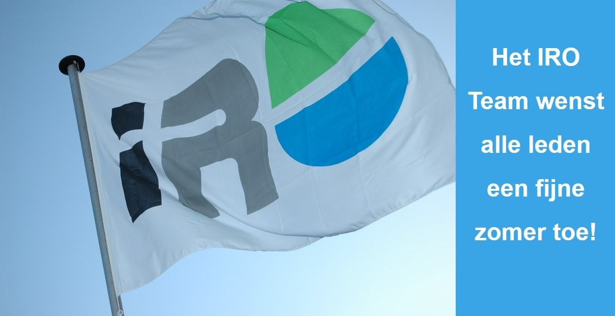 Het IRO Team wenst alle leden een fijne zomer toe!