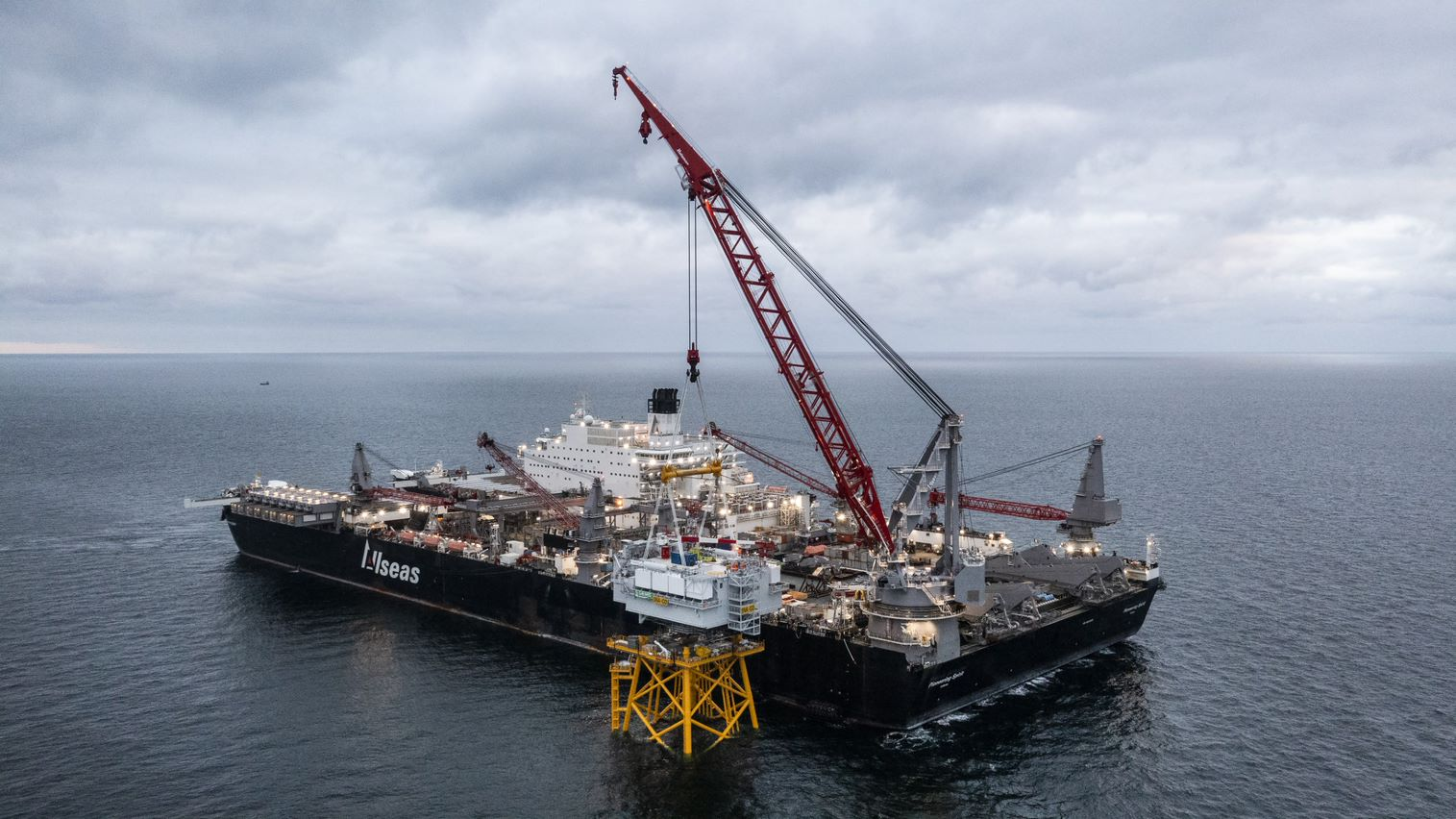 Allseas enters renewables market with offshore substation installation