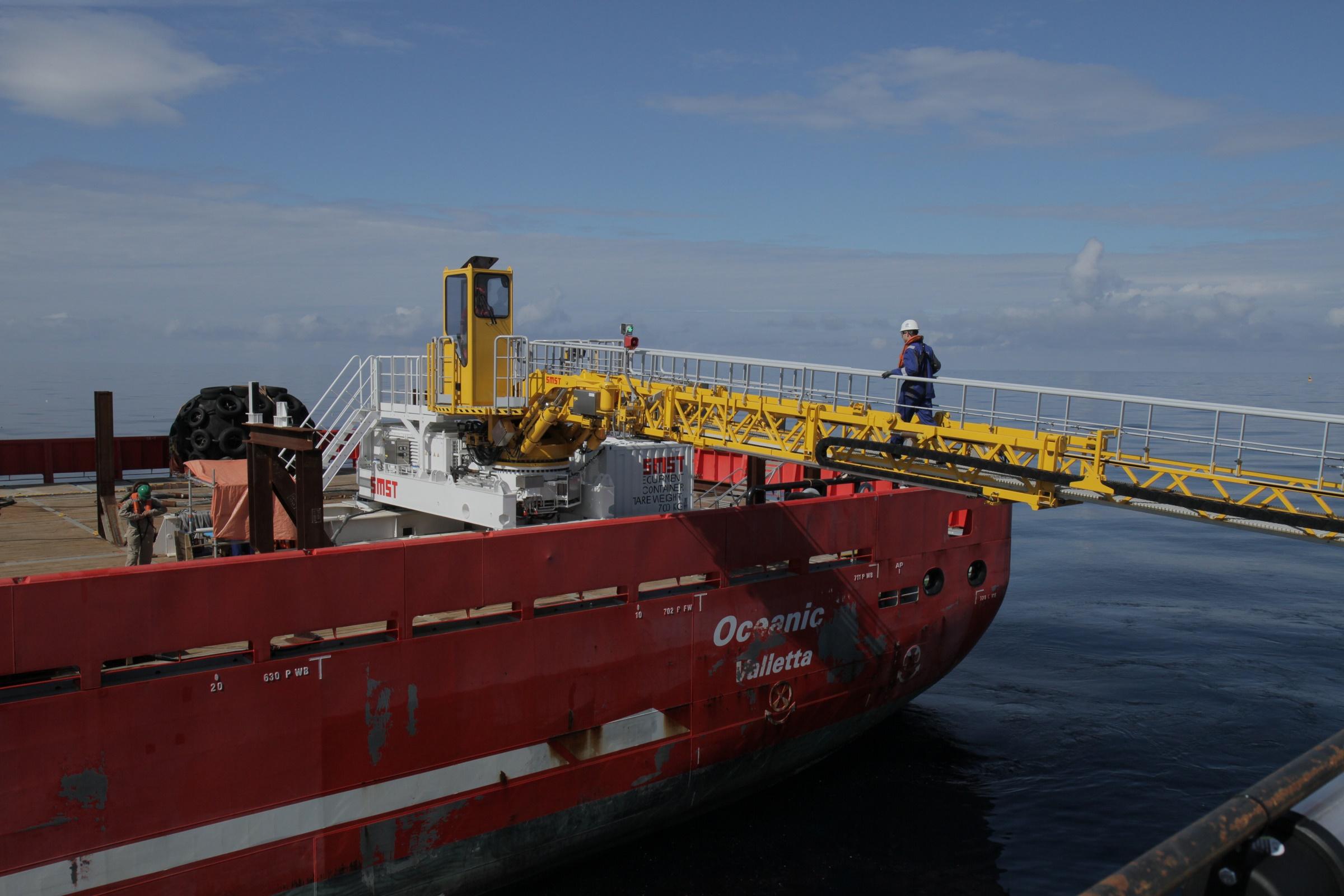 SMST gangway back on board of Allseas' Oceanic