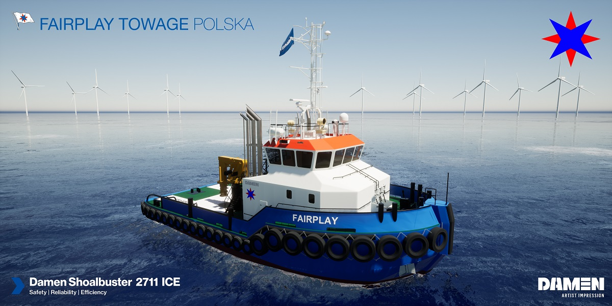 Damen signs with Fairplay Towage for IMO Tier III certified Shoalbuster 2711