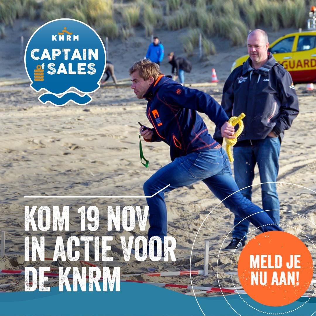 Steun de KNRM en meld je nu aan voor het Captain of Sales event 2021!